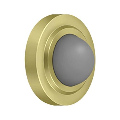 Deltana WBC238U3 Convex Flush Bumper Door Stop Polished Brass - pack of - Bumper Polished Brass
