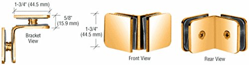 C.R. LAURENCE GCB90GP CRL Gold Plated 90 Degree Traditional Style Glass-to-Glass Clamp by C.R. Laurence
