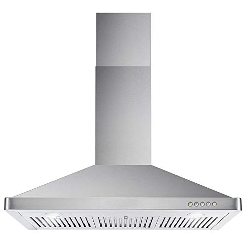 Cosmo 63190 36 In Wall Mount Range Hood 760 Cfm Ducted