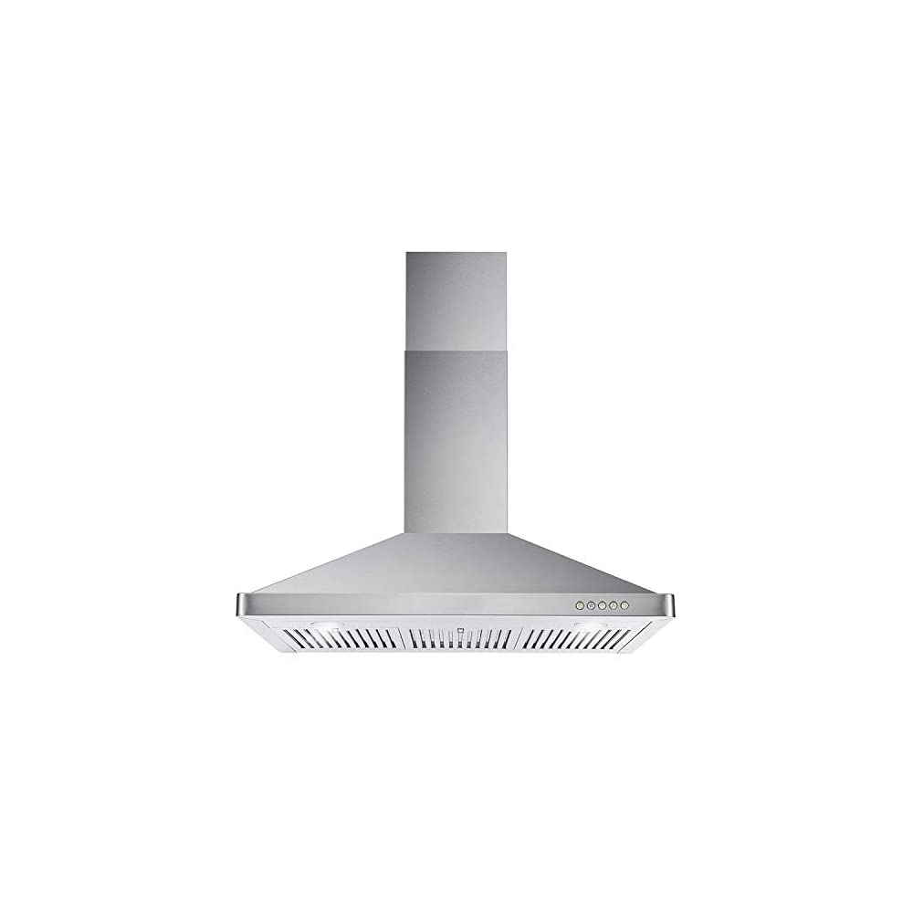 Cosmo 63190 36 in. Wall Mount Range Hood with Ductless Convertible Duct, Kitchen Chimney-Style Over Stove Vent, 3 Speed…