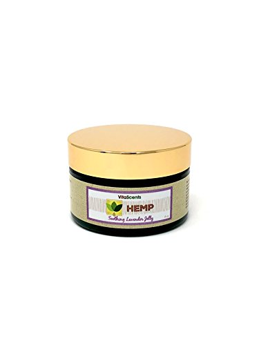 VitaScents Hemp Soothing Lavender Jelly for Muscular Pain Relief, 4 oz by VitaScents