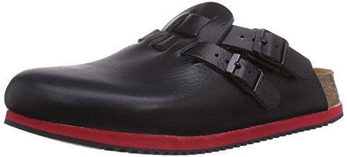 Birkenstock Professional KAY - Zuecos de cuero mujer negro - Schwarz (BLACK LS BLACK/RED)