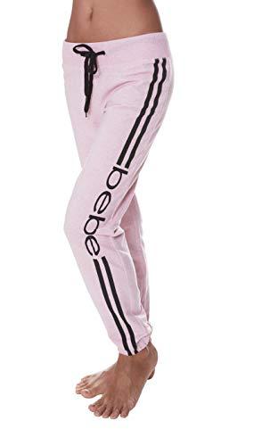 bebe Womens Elastic Waist Ankle Drawstring Lounge Pajama Sleep Pants Light Pink Heather X-Large