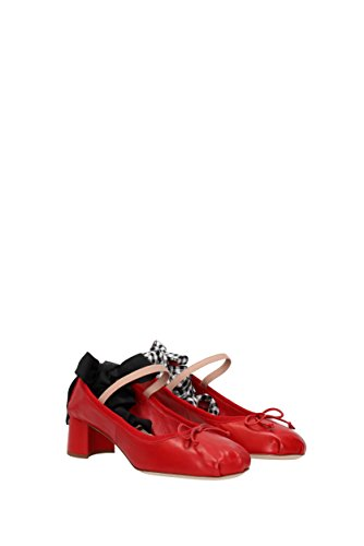Courts Miu Miu Women - Leather (5I774A) UK Red 6DVdkDY