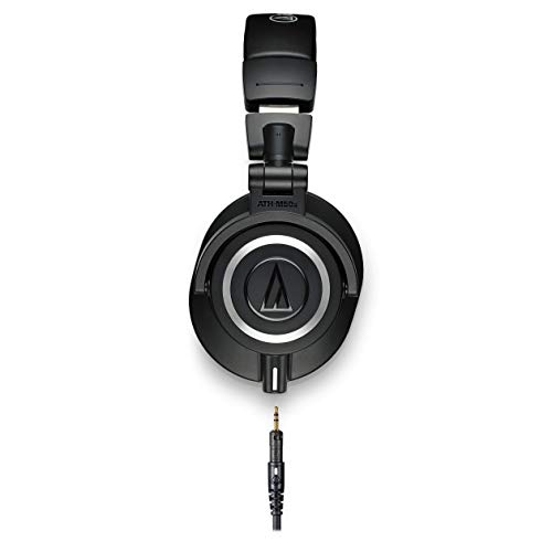 Audio-Technica ATH-M50x Professional Studio Monitor Headphones, Black, Professional Grade, Critically Acclaimed, With…