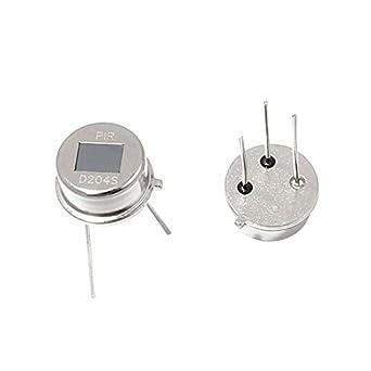 Sensor de movimiento por infrarrojos piroeléctrico D204S 2 piezas de PIR para el Sistema de Seguridad