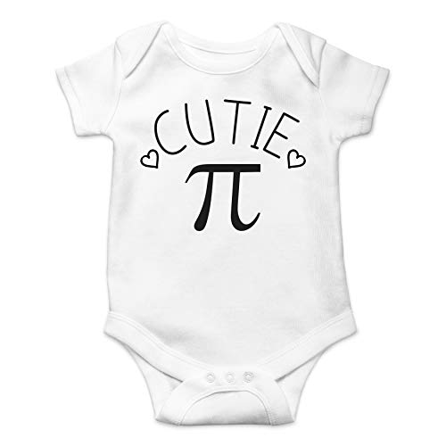 Cutie Pie - Geeky Math Lover Nerd - Funny Cute Infant Creeper, One-Piece Baby Bodysuit (White, -