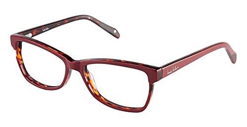 Nicole Miller Ellery Eyeglass Frames - Frame BURGUNDY/TORT, Size 53/15mm