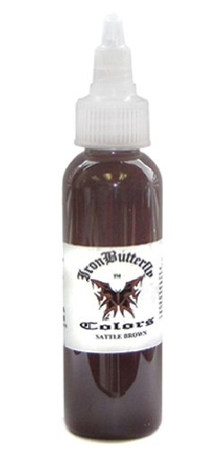 - Iron Butterfly ink -SADDLE BROWN- 1oz Bottles -Tattoo Supplies-