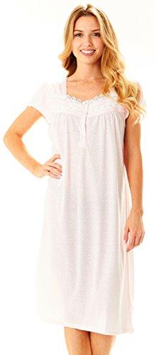 Womens Nightgown Sleepwear Cotton Pajamas
