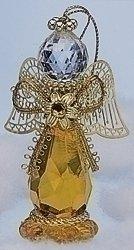 Roman Topaz November Christmas Angel Ornament