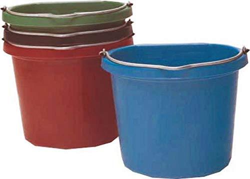 Fortiflex Flat Back Feed Bucket for Horses, 20-Quart, Blue by Fortiflex