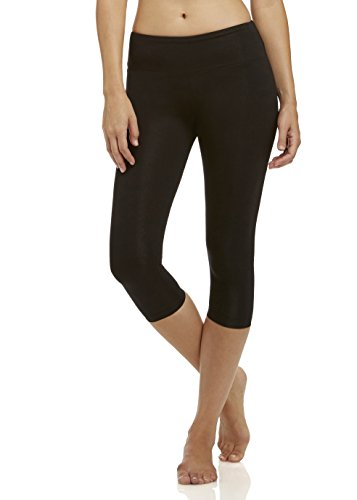 Marika Cotton Pants - Marika Standard Women's Carrie Butt Booster Capri Leggings, Black, Large