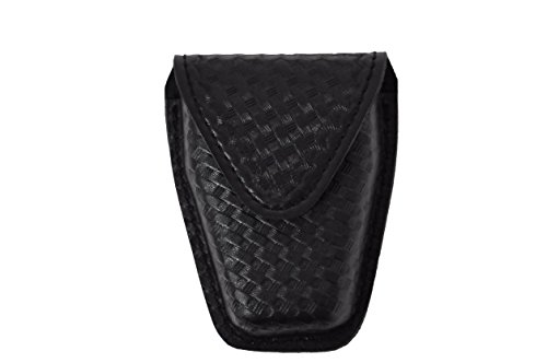 - Safariland Model 190 Handcuff Case with Top Flap and Tapered Bottom, Black, STX Basketweave with Hidden Snap, for Standard Handcuffs