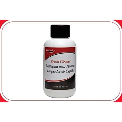 Supernail Nail Brush Cleaner - 4 Oz / 118 Ml - Lot of 2: Beauty