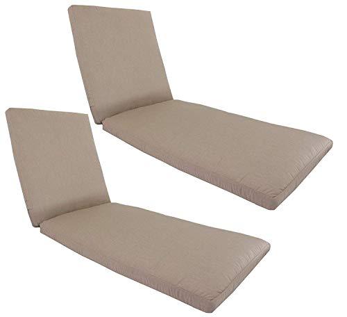 kingrattan.com Made in USA Outdoor Patio Chaise Lounge Cushion 24