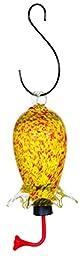 Gardman BA05714 Yellow/Red Cylinder Glass Hummingbird Feeder, 3.5\