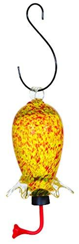 Gardman BA05714 Yellow/Red Cylinder Glass Hummingbird Feeder