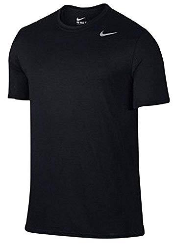 Nike Men's Dri-Fit Athletic Short Sleeve Shirt (X-Large, Black)