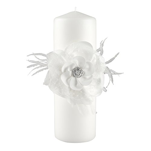 Ivy Lane Design Somerset Collection Unity Candle, 3 by 9-Inch Pillar, White