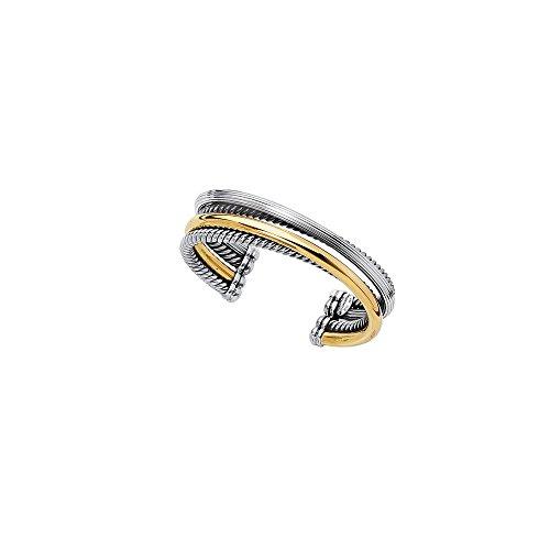 Argent Sterling 18 chevauchement Bracelet pour JewelryWeb 7,5 cm