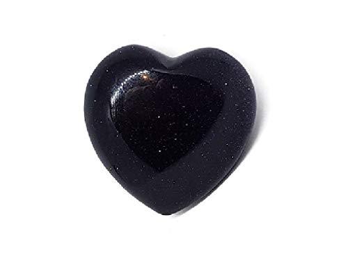 - CircuitOffice 1 Piece Blue Goldstone Puffy Heart 1.8