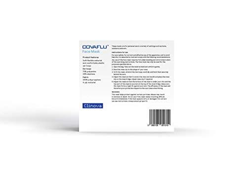 COVAFLU KN95 Disposable Fold Flat Face Mask (Pack of 10 KN95 Face Masks) 31ZV47HW49L
