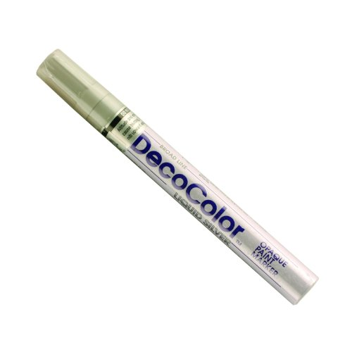 Uchida 300-C-SLV Marvy Deco Color Broad Point Paint Marker, Silver Deco Point