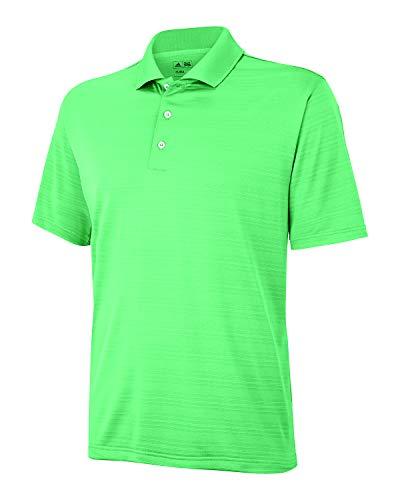 - adidas Golf Mens Climalite Textured Short-Sleeve Polo (A161) -Gecko -L