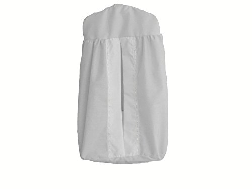 Baby Doll Bedding Regal Diaper Stacker, White