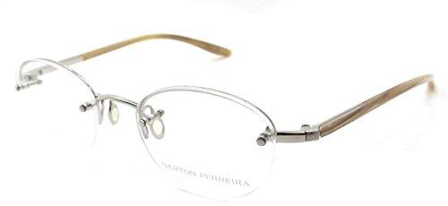 Barton Perreira RX Eyeglasses Frames Warren 48x20 Silver / Silver with Horn - Perreira Barton Titanium