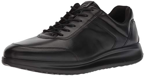 ECCO Men's Aquet Tie Oxford, Black Sneaker, 46 M EU (12-12.5 -
