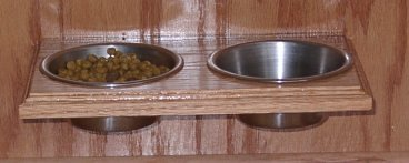 pf-2-solid-wood-wall-mounted-pet-food-holder-for-small-dogs-stainless-steel-pint-bowls-mounts-on-the
