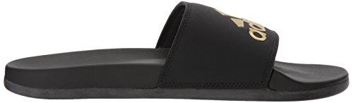 Gold Black Femme Core Black Confortables Met Claquettes Comfort Adidas Adilette Wfq6vB0