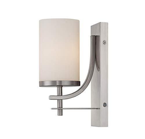 House Satin Savoy Opal (Savoy House 9-337-1-SN Colton Wall Sconce in Satin Nickel)