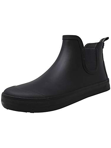 Tretorn Men's Gabe Rubber Black/Gunmetal High-Top Rain Boot - 9M