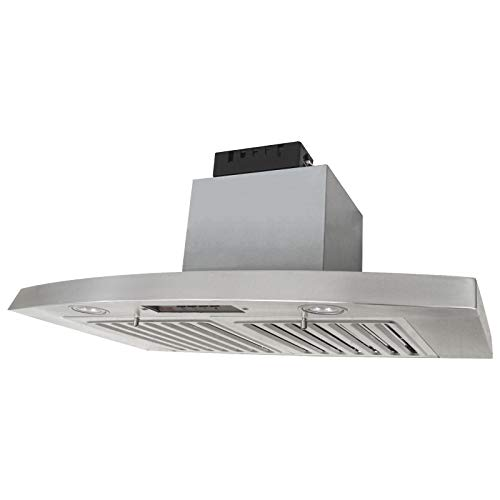 KOBE RAX2836SQB-2 Brillia 36-inch Under Cabinet Range Hood, 3-Speed, 650 CFM, LED Lights, Baffle Filters