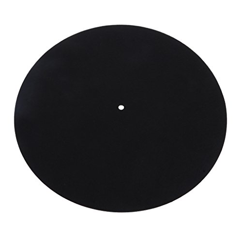 MagiDeal LP Vinyl Turntable Slipmat Record Wool Pads Anti-static Anti-vibration Mat by non-brand