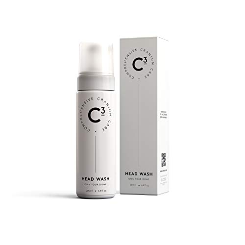 C3 Head Wash: Healing, Hydrating, Fragrance Free, Sulfate Free and Paraben Free Foam Cleanser for Bald, Shaved, and Buzzed Heads. Gentle, Irritation-Free Face and Scalp Care for Men and Women