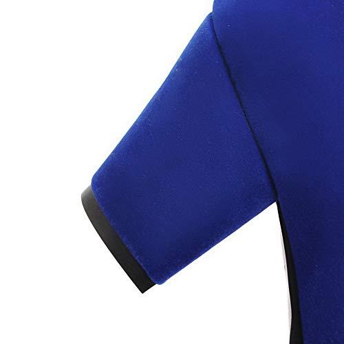 SDC05822 Bleu Compensées AdeeSu Sandales Femme 48qn0a