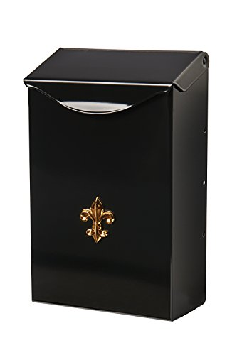 Gibraltar Mailboxes Classic Small Capacity Galvanized Steel Black, Wall-Mount Mailbox, -