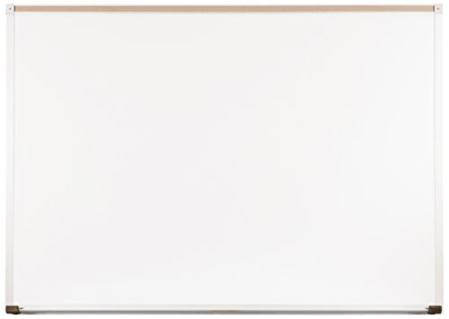 Best-Rite Classroom Deluxe Porcelain Steel Dry Erase Whiteboard, 4 x 5 Feet Magnetic Markerboard With Aluminum Trim & Map Rail - Bulletin Trim Board Aluminum