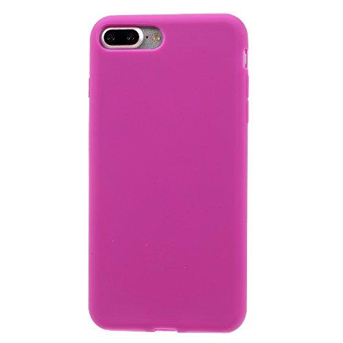 Matte Silicone Protection Tasche Hüllen Schutzhülle Case für iPhone 7 Plus 5.5 Inch - Rose
