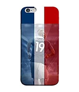 ColorKing Football Pogba France 02 Multicolor shell case Cover for Apple iphone 6 Plus / 6s Plus