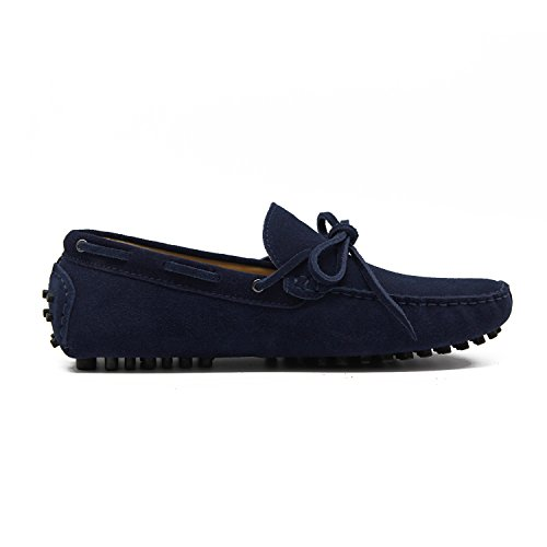 Turn Flats Loafers Blue Navy Suede Slip US8 Men's Ons 5 r5w0xgr