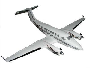 Daron Worldwide Trading H4732 B-350 King Air 1/32 AIRCRAFT
