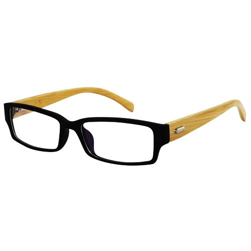 EyeBuyExpress Mens Womens Reading Glasses Black Frame Blond Bamboo Wood Temples Light Weight Comfort Fit with Anti Reflective Lens Coating Magnification Strength (Blonde Womens Sunglasses)