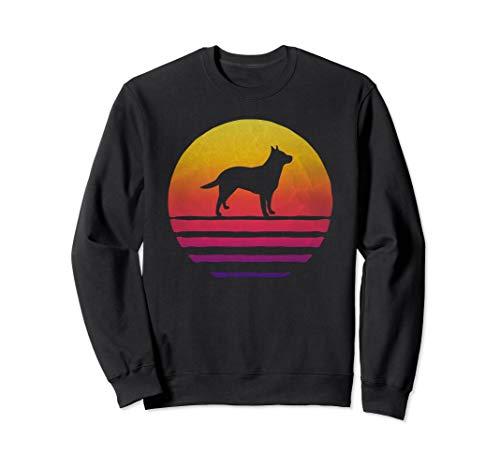Retro Vintage Sunset Australian Cattle Dog Silhouette Gift Sweatshirt ()