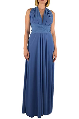 Dress One Jeans - Von Vonni Made In USA Infinity/Transformer/Convertible Maxi Dress Made In USA (Jeans)
