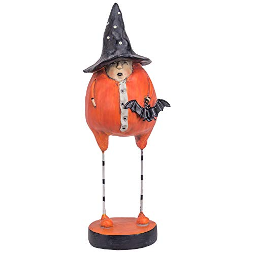 Designs Combined Folk Art Witch Holding Bat 4 x 13 Inch Resin Halloween Figurine]()